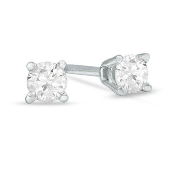 1/5 CT. T.W. Diamond Solitaire Stud Earrings in 14K White Gold