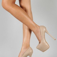 Addition-4 Leatherette Platform Pump