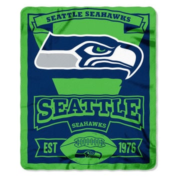 Seahawks  50x60 Fleece Throw Marquee Series