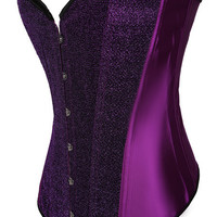 Glittered Tie-Up Lace Back Corset