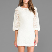 JARLO Jocelyn Long Sleeve Lace Dress in Cream from REVOLVEclothing.com
