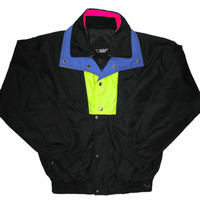 Vintage 90s Neon Snowboarding / Skiing Jacket Mens Size Medium
