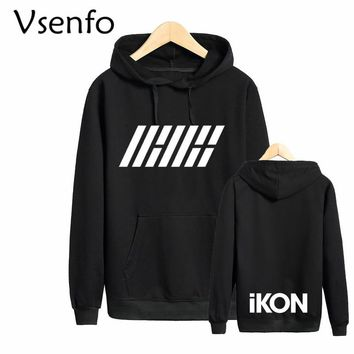 Vsenfo Ikon Sweatshirt Women Casual B.I.Bobby Hoodies Men Women Pullover Harajuku Sweatshirts Tumblr Couple Hoody Femme