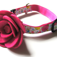 Pink Flower Dog Collar Attachment