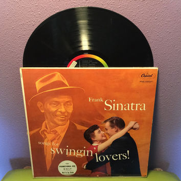 Vinyl Record Album Frank Sinatra - Songs for Swingin' Lovers LP 1959 Crooner Icon Traditional Pop Classics