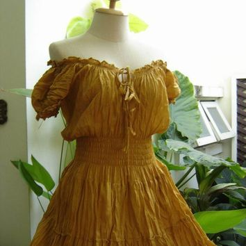 MXL Princess Cotton Dress II  Mustard by fantasyclothes on Etsy