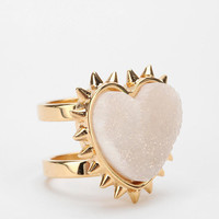 Urban Outfitters - MariaFrancescaPepe Agate Heart Ring
