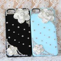 the sisters, couple flower protective case for iPhone 4 4s 5 5c Samsung s4 i9500,personalized gift,set of 2