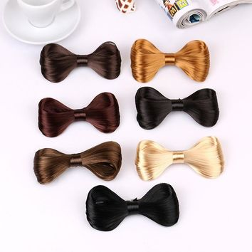 TS New Fashion Big Bow Ties Wig Hairpin Hair Bow Clips Women Girls' Hair accessories