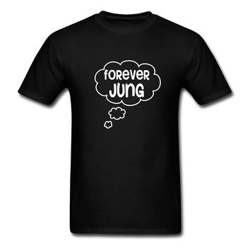 Forever Jung - Psychology Men's T-Shirt T Shirt Discount 100 % Cotton T Shirt for Men'S Men/Boy Short Sleeve Cool Tees
