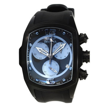Invicta 14017 Men's Lupah Revolution Light Blue & Black Dial Chronograph Rubber Strap Watch