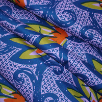 Dutch Wax African Fabric Large Floral Print  HALF YARD (45cm)