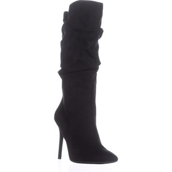 Jessica Simpson Lyndy Pointed-Toe Fashion Boots, Black, 9.5 US / 39.5 EU