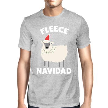 Fleece Navidad Grey Men's Shirt Funny Christmas Gift Graphic Tee