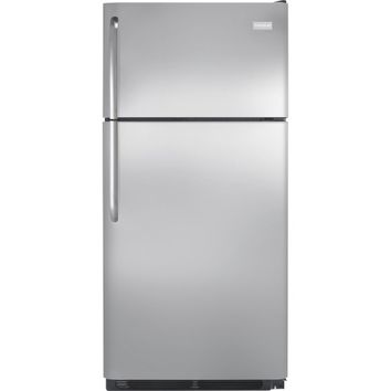 Frigidaire - 18.1 Cu. Ft. Top-Freezer Refrigerator - Stainless Steel