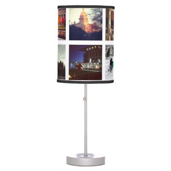 Custom Instagram Photo Collage Table Lamp