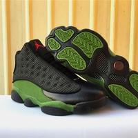 Air Jordan 13 AJ13 Black Olive Green Basketball Shoes US8-13