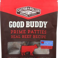 CASTOR & POLLUX: Good Buddy Prime Patties Dog Treats Real Beef Recipe 4 Oz