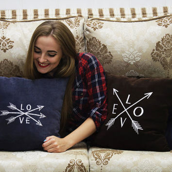 Personalized Pillow Covers Arrow Love Quote Pillowcase Decorative Pillow Cover Indie Boho Arrows Home Decor Throw Pillows Wedding Gift V33