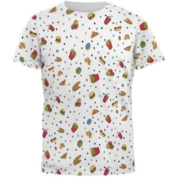 CREYON Junk Food Pattern All Over Mens T Shirt