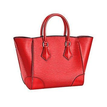 Tagre™ LV Authentic Louis Vuitton Epi Leather Phenix MM Bag Handbag Coquelicot Article: M5058