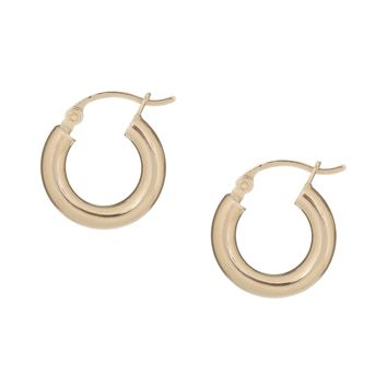 Mini Thick Hoops 14KT
