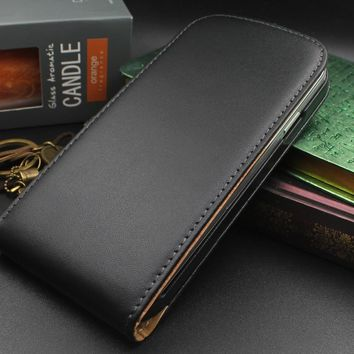 NFH Genuine Real Leather Case For Samsung Galaxy S4 i9500 Luxury Retro Phone Accessories Cases Flip Cover For Galaxy s4 i9500