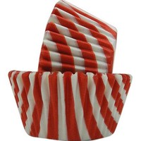 Regency Greaseproof Baking Cups, Red and White Stripes, standard, 40 count
