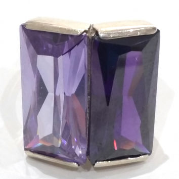 Silver and Amethyst Ring from Leonid Vlad