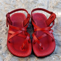 ,leather sandals, Shoes, Women's Shoes, Sandals, Gladiator & Strappy Sandals, Jerusalem sandals, Women sandals, Sandals, brown leather sandal