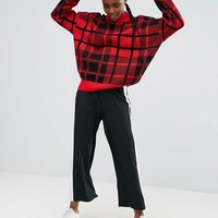 ASOS Sweater with Large Check Print at asos.com