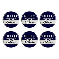 Odin Hello My Name Is Plastic Resin Button Set of 6