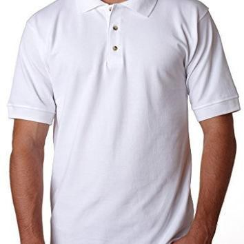 Yoga Clothing for You Mens Cotton Polo Shirt