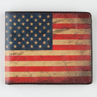Buckle-Down American Flag Wallet Red/White/Blue One Size For Men 22091394801