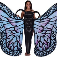 "Inflatable Gigantic 81"" Inflatable Butterfly Pool Float, Inflatable Raft; Ride-On"