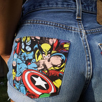 MARVEL. Any Size Vintage High Waisted Denim Shorts