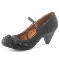 Black frill Mary Jane shoes - Mid Heels - Heels - Shoes - Dorothy Perkins