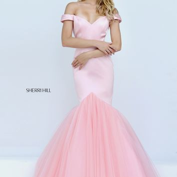 Sherri Hill 50732 Off Shoulder Mermaid Gown
