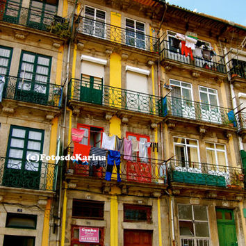 Instant Download Portugal Photography Porto Photography Colorful Clothes in Portugal