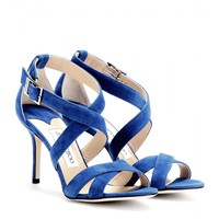 jimmy choo - louise suede sandals