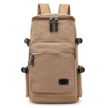 Men Huge Luggage Travel Bag Army Bucket Backpack Multifunctional Military Canvas Backpacks Large Shoulder Bag Pack Solid XA117WC