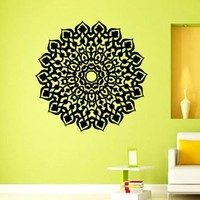 Mantra Om Yoga Mandala Wall Decal Vinyl Sticker Wall Decor Home Interior Design Art z359