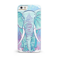 Flourished Blue & Purple Sacred Elephant iPhone 5/5S/SE INK-Fuzed Case