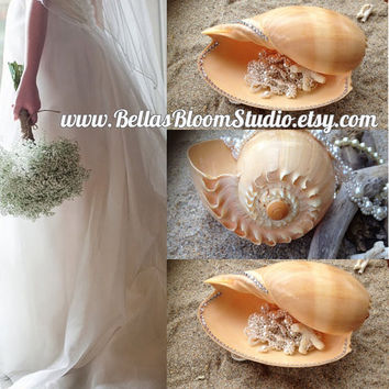 Beach Wedding Decorations Ring Bearer Pillow Sea Shell Ring Pillow,Nautical Pillow, Beach Ring Pillow, beach wedding,ringbearer pillow etsy