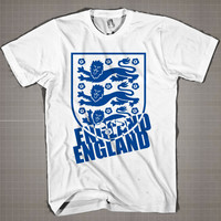 ENGLAND Logo Worldcup  Mens and Women T-Shirt Available Color Black And White
