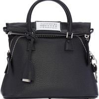 Black Grained Leather Bag