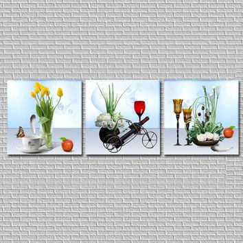 Flowers Modern Canvas Painting Large Wall Pictures For Kitchen Living Room Wall Art Canvas Prints HY18