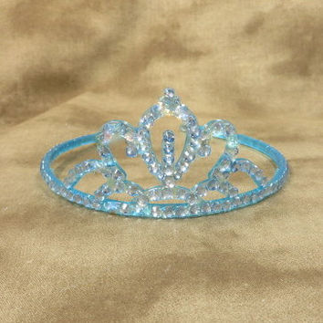 Crowns - Tiaras - Blue - Hair Accessories - Blue Wedding - Toddler Headband - Princess - Birthday Crowns - Wedding - Bridal - Accessories -
