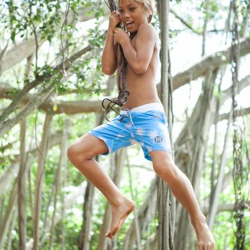 Walk-Surf-Swim Shorts in Fan Leaf- Kid's