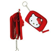 Hello Kitty Red Bow Zip Around Red Wallet